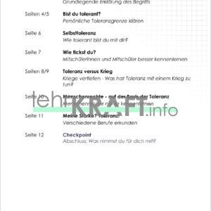 Inhaltsverzeichnis Toleranz-1